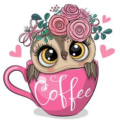 Cartoon owl is sitting in a Cup of coffee. Cute Cartoon owl is sitting in a Cup of coffee royalty free illustration Cartoon Cartoon, Cartoon Owl Drawing, Cute Owl Drawing, Illustration Mignonne, Owl Illustration, Animal Drawings, Cute Drawings, Owl Drawings, Owl Png
