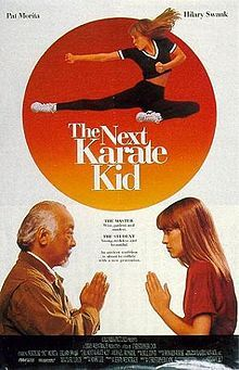 This is before Jaden Smith's remake: Miyagi meets the widow of his wartime commander (Constance Towers) who confides to him that her granddaughter is a troubled teen (Hilary Swank). Can he convert her from white trash into a million dollar baby? (For that, she's gonna need a bigger sensei - Clint.)