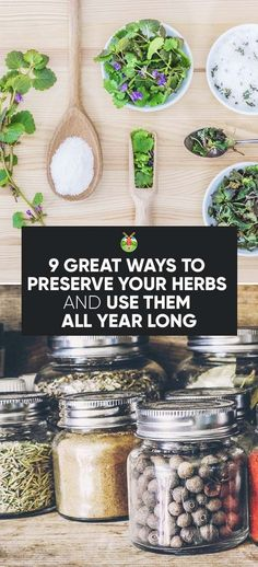 When your herb garden grows more than you can use, there are a couple of great ways to preserve your herbs and have them available all year long.