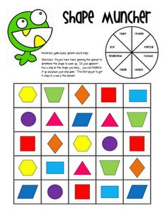 I love Shape Monster and Shape Muncher...this blog has a bunch of really cute/fun teaching activities!