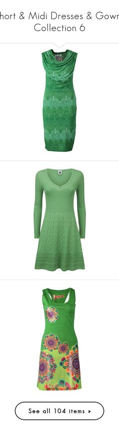 """""""Short & Midi Dresses & Gowns Collection 6"""" by majezy ❤ liked on Polyvore featuring dresses, green, green jersey, knee high dresses, rayon dress, green jersey dress, green dress, short dresses, missoni and robes"""