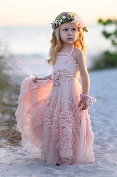 #pink flower girl dresses #Flower Girl Dresses with Flowers #ankle length flower…