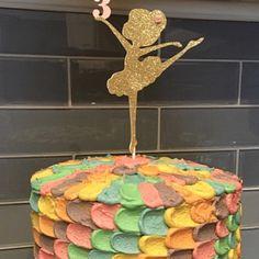 Cake Topper ~ Ballerina ballerina ~ oro Glitter decorazione per compleanno figlia, bambina tutù tea party, insegnante di balletto classe ~