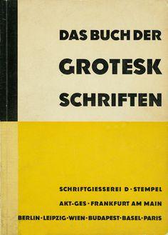 Book cover, 1932. Schriftgiesserei D. Stempel AG, Frankfurt.