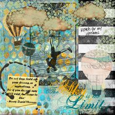 Art Journal page by Stephanie Bullock.  Inspired by the journey as a whole.  Tangie Baxter, Journey 13 kit and January parcel Shabby Miss Jenn Designs - cloud CBR, My Secret Garden - word art Moninda - coffee drip C Wilson, It's About Time - paint smear