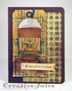 Lisa Hoel - Tim Holtz Tags of 2015, June - Birthday card