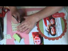 How to Make a Christmas Scrapbook Layout #video #tutorial