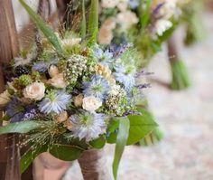 Flowers for the bridesmaids by Les Fleurs Artisan Florist. www.lesfleurs.ie
