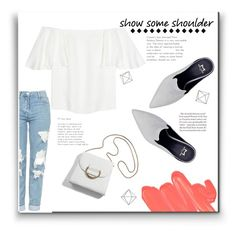 Off Shoulder by evelynn-cole on Polyvore featuring polyvore fashion style Valentino Topshop Obsessive Compulsive Cosmetics Umbra clothing