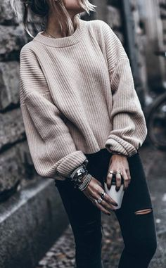 314b9f940c  fall  outfits women s white sweater  fallwomenclothing Clothes For Winter