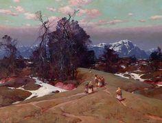 Le Prince Lointain: Stepan Kolesnikoff (1879-1955), Paysage Montagneux...