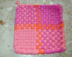 No pattern inspiration only Potholder Cotton Loops Woven