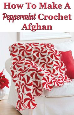 What a gorgeous peppermint crochet afghan. I would love to curl up with this on the couch and read a book, or watch a movie, wouldn't you? You can get the instructions to crochet one for yourself here.
