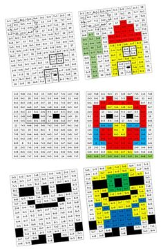 Math games 769834130036516300 - PixArt des additions (jeu pour CP) Source by Addition Games, Math Addition, Math Games For Kids, Math Activities, Therapy Activities, Fun Games, Pix Art, Math Blocks, 2nd Grade Math