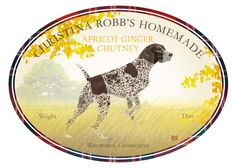 Felix Doolittle Savory Canning Contest winner chose her short-haired pointer dog for Felix to draw for her prize of custom illustrated canning labels.  Priceless.