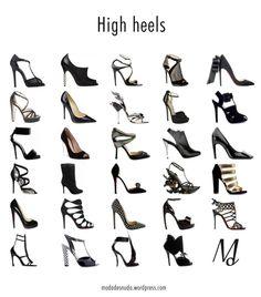 Black high heels. Tacones altos. modadesnuda.wordpress.com