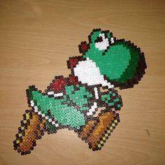 Yoshi hama perler beads by dragoneyes00