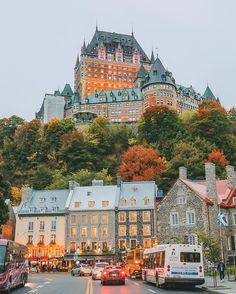 Autumn in Quebec, Canada, is unlike anywhere else! Check out this travel story to see the gorgeous Fairmont Le Chateau Frontenac and more beautiful fall photography in Quebec. Old Quebec, Quebec City, Places To Travel, Places To See, Travel Destinations, Voyager C'est Vivre, Travel Around The World, Around The Worlds, Chateau Frontenac