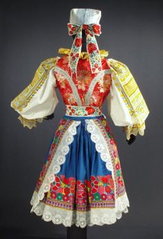 Folk Embroidery Parts of folk costume in Krakovany, Slovakia - Traditional Fashion, Traditional Dresses, European Costumes, Folk Embroidery, Modern Embroidery, Costumes Around The World, Bohemian Girls, Ethnic Dress, Folk Costume