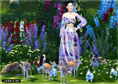 Jennisims: Downloads sims 4: Decoration Vol13 (Dogs,Deer,Owl,Rabbit,standApple,standOrange)