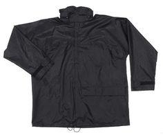 MFH Regenjacke, Polyester mit PVC, schwarz / mehr Infos auf: www.Guntia-Militaria-Shop.de