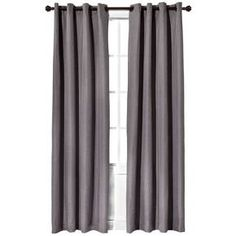 Grey and Light Blocking - Eclipse™ Light Blocking Fairfax Thermaweave Curtain Panel Purple Curtains, Brown Curtains, Ikea Curtains, Colorful Curtains, Curtains With Blinds, Blackout Curtains, Panel Curtains, Bedroom Curtains, Target Curtains