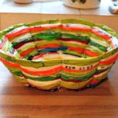 Tute Tuesday: Recycled Plastic Bag Fruit Bowl | Craftster Blog