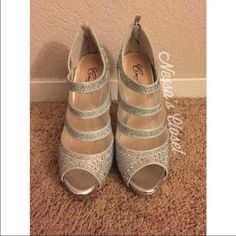 Camillelavie Silver Heels Condition: 10/10 (Never Worn) Size: 7, not recommended for wide feet Shoes Heels