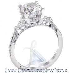 2.84 Carat D-VS2 Certified Cushion Cut Diamond Engagement Ring 18K White Gold - Liori Exclusive Engagement Rings - Engagement - Lioridiamonds.com
