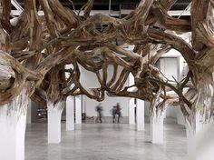 Anthropomorphic Installation Artwork - Henrique Oliveira Creates Realistic Installation Art (GALLERY)