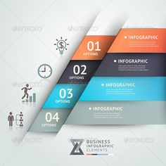 Modern Business Infographic Origami Template. by Romaa venus, via Behance