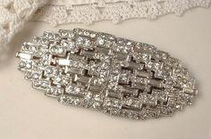 Original 1930's Bridal Hair Comb or Sash Brooch by AmoreTreasure