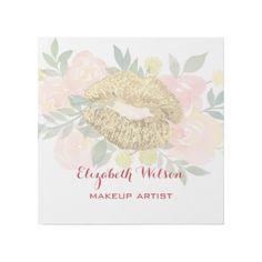 #makeupartist - #golden lipstick kiss on watercolor flowers gallery wrap