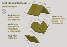 Bird House Kits Make Great Bird Houses Wooden Bird Feeders, Wooden Bird Houses, Bird House Feeder, Bird Houses Diy, Bird House Plans Free, Bird House Kits, Homemade Bird Houses, Homemade Bird Feeders, Dog Ear Fence