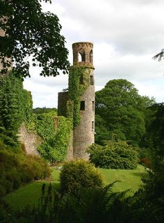 The ruined towers of Blarney Castle, Ireland (by...