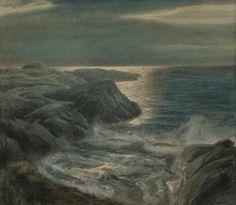 """windypoplarsroom: Thorolf Holmboe """"Coastal Landscape"""""""