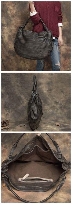 Full Grain Genuine Leather Large Handbag Tote Bag Shopping Bag