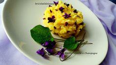 Risotto Violette e Champagne! ''ogni tanto mangio un fiore'' cantava Fabio Concato. Oggi si va nei campi a raccogliere fiori eduli, violette profumatissime