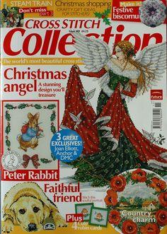 "Photo from album ""Cross Stitch Collection 189 ноябрь on Yandex. Biscornu Cross Stitch, Xmas Cross Stitch, Cross Stitch Books, Cross Stitching, Cross Stitch Embroidery, Christmas Angel Crafts, Christmas Books, Cross Stitch Designs, Cross Stitch Patterns"