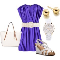 blue and white, created by hedufed on Polyvore- summer :)