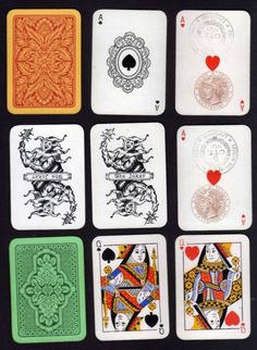 Italian playing cards, early 20th century. Ace Of Hearts, Illustrations And Posters, Playing Cards, Inspiration, Design, Playing Card, Biblical Inspiration, Illustrations Posters, Design Comics