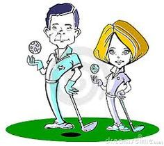 Image result for funny cartoon pictures of a golf team