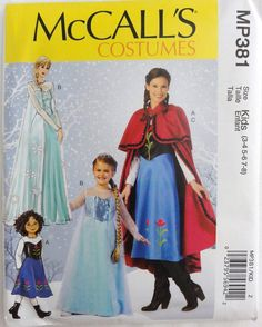 MCCALLS PATTERN 381 Frozen Winter Princess By DesignsbyDoreen