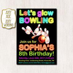 Bowling invitation birthday invitation Bowling by CoolStudio Teen Birthday Invitations, Bowling Invitations, Bday Girl, Baby Birthday, Rsvp, Party Ideas, Handmade Gifts, Etsy, Kid Craft Gifts