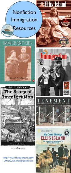 Teaching about US Immigration - nonfiction resources   The Logonauts    Learn about the history of US immigration to Ellis Island with these great nonfiction books!