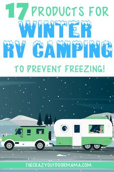 17 Essential Products To Winter RV Living (without freezing!) – The Crazy Outdoor Mama - Check out these 17 winter RV camping tips and products to make cold weather camper camping just as - Cold Weather Camping, Rv Camping Tips, Camping Supplies, Camping Checklist, Camping Car, Camping Essentials, Camping With Kids, Family Camping, Camping Ideas