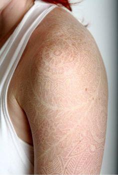 Gorgeous White Ink Tattoos