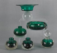 Sold for $89 in 2012. 6 green erickson pieces sold at auction