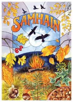 "Samhain bonfires were used in divination rituals. In the late 18th century, in Ochtertyre, a ring of stones was laid round the fire to represent each person. Everyone then ran round it with a torch, ""exulting"". In the morning, the stones were examined and if any was mislaid it was said that the person for whom it was set would not live out the year. A similar custom was observed in north Wales and in Brittany."