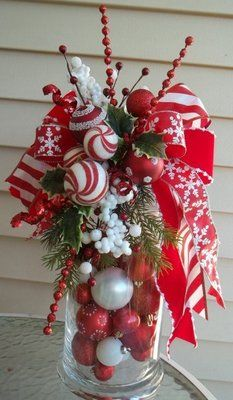 """""""Peppermint Holiday"""" Decorative Holiday Swag Bow 